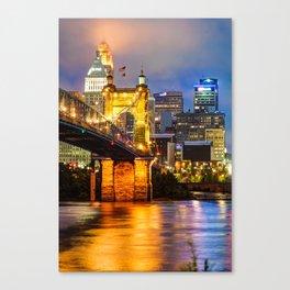 John A. Roebling Bridge - Cincinnati Ohio Canvas Print