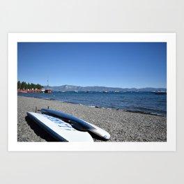 Paddle boards at Lake Tahoe Art Print