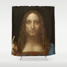 Price Slashed on 450M Leonardo da Vinci Salvator Mundi Shower Curtain