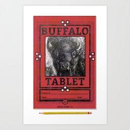 BUFFALO FACTORY Tablet Art Print
