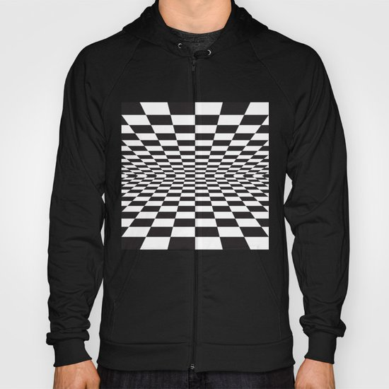 Black and white back and forth - Optical game 15 Hoody