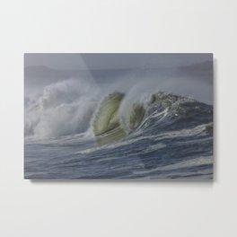 Storm Waves at Humboldt Bay Metal Print