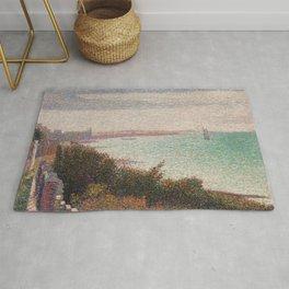 "Georges Seurat ""Grandcamp, un soir"" Rug"