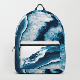 Blue White Agate #1 #gem #decor #art #society6 Backpack