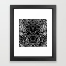 zebra tiger Framed Art Print