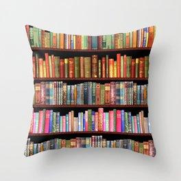 Vintage books ft Jane Austen & more Throw Pillow