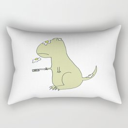 Dino's Egg Flip Rectangular Pillow