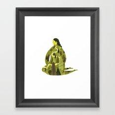 Spring Sprung Gal Framed Art Print