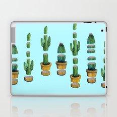 cut cactus on blue Laptop & iPad Skin
