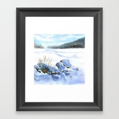A Winter Study In Blues Framed Art Print