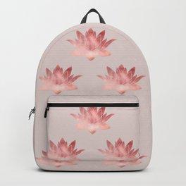 Pink Lotus Flower   Watercolor Texture Backpack