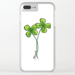 Twice as Lucky Clear iPhone Case