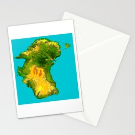 Australia Topographical Relief Map Stationery Cards