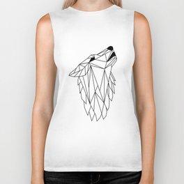 Geometric Howling Wild Wolf Biker Tank