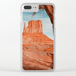Monument  Valley, Arizona Panorama - 2 Clear iPhone Case