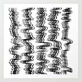 Wavy stripe set pattern Art Print