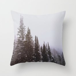 Misty Pines Throw Pillow
