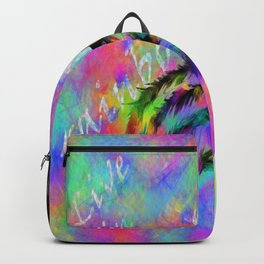 live in rainbows Backpack