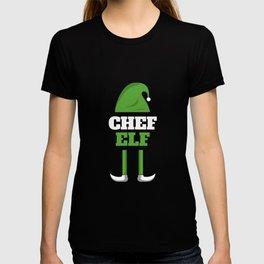 Chef Elf Elve Christmas Gift T-shirt