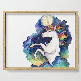 Watercolor Unicorn Serving Tray