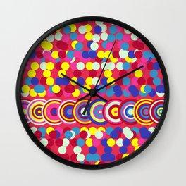 Bright Circles and Dots Wall Clock