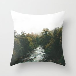 Misty Rivers Throw Pillow