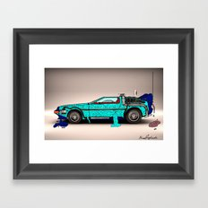 Back to the Future - Zombie edition Framed Art Print