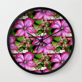Clematis Wall Clock