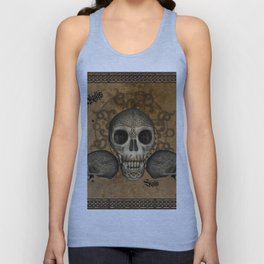 Awesome skulls with celtic knot Unisex Tank Top