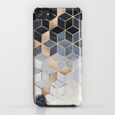 Soft Blue Gradient Cubes Slim Case iPod touch