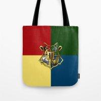 hogwarts Tote Bags featuring HOGWARTS - HOGWARTS by alexa