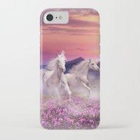 unicorns iPhone & iPod Cases featuring Unicorns by Nessendyl