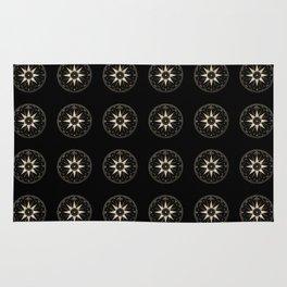 Mariner's Compass Pattern Rug