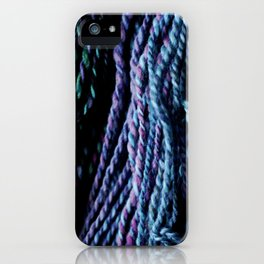 Strands of Yarn Purple Blue iPhone Case