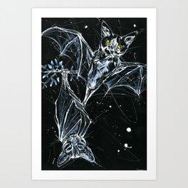 Batcats Art Print