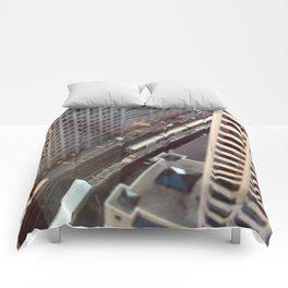 Chicago El Train Tracks Original Color Photo Comforters