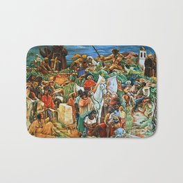 African American Masterpiece Golden State Mural, Exploration and Colonization by Charles Alston Bath Mat