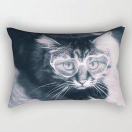 Kitty with sunglasses Rectangular Pillow