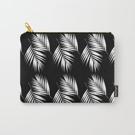 Palm Leaves Pattern #9 #White #Black #decor #art #society6 Carry-All Pouch