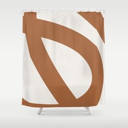 Neutral Abstract 2A Shower Curtain