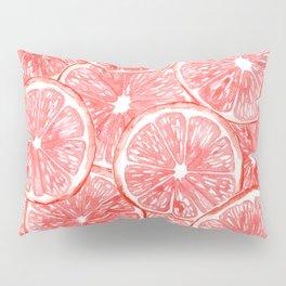 Watercolor grapefruit slices pattern Pillow Sham