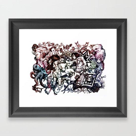 Domestic Parade Framed Art Print