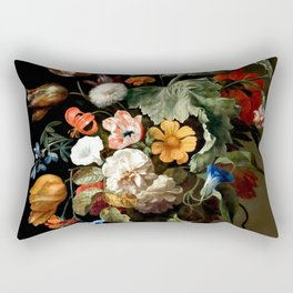 "Rachel Ruysch ""Still-Life with Flowers"" Rectangular Pillow"