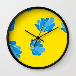 vintage fantasy blue shells Wall Clock