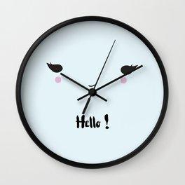 Hello ! - お早う Wall Clock
