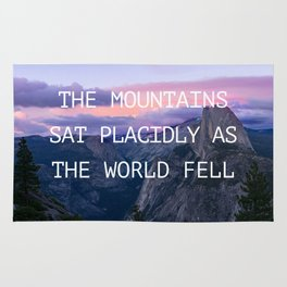 The mountains sat placidly Rug