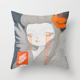 Hawaiian Raven Throw Pillow