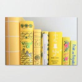 Shelfie in Yellow Canvas Print