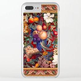 Vintage Fruit Pattern VII Clear iPhone Case