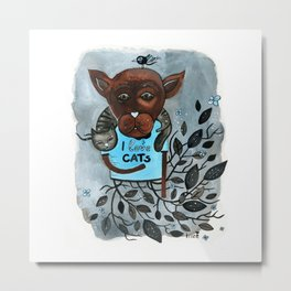 Mr. Boxer is in love with Cats Metal Print